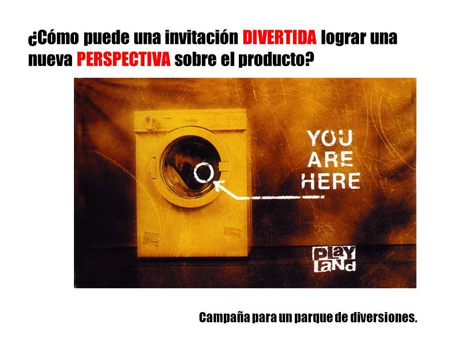 ¿Cómo puede una invitación DIVERTIDA lograr una nueva PERSPECTIVA sobre el producto? Campaña para un parque de diversiones.
