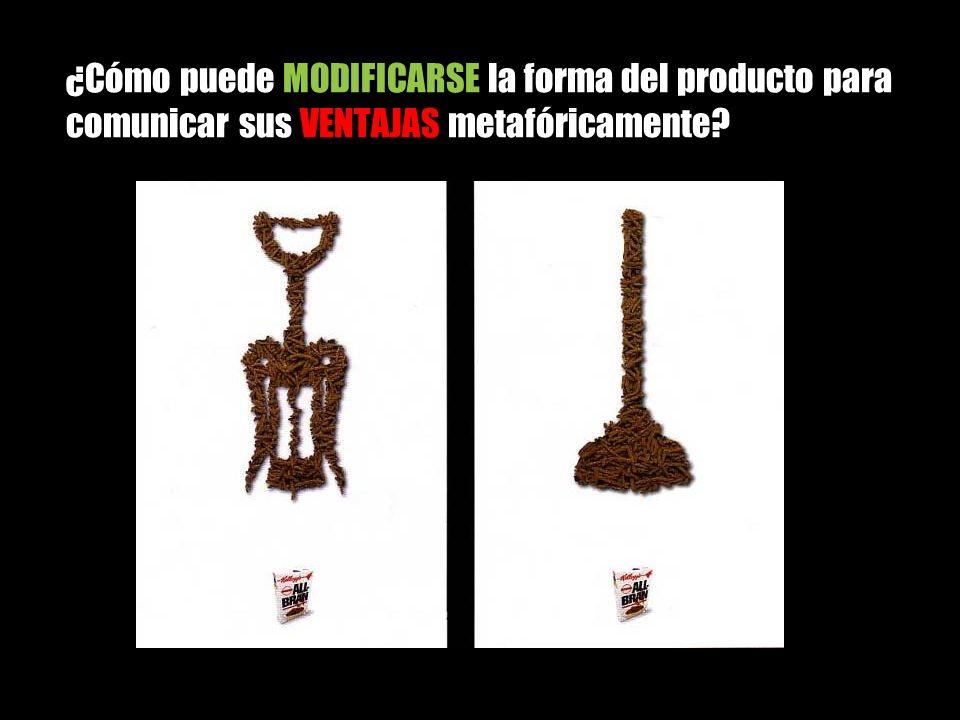 ¿Cómo puede MODIFICARSE la forma del producto para comunicar sus VENTAJAS metafóricamente?