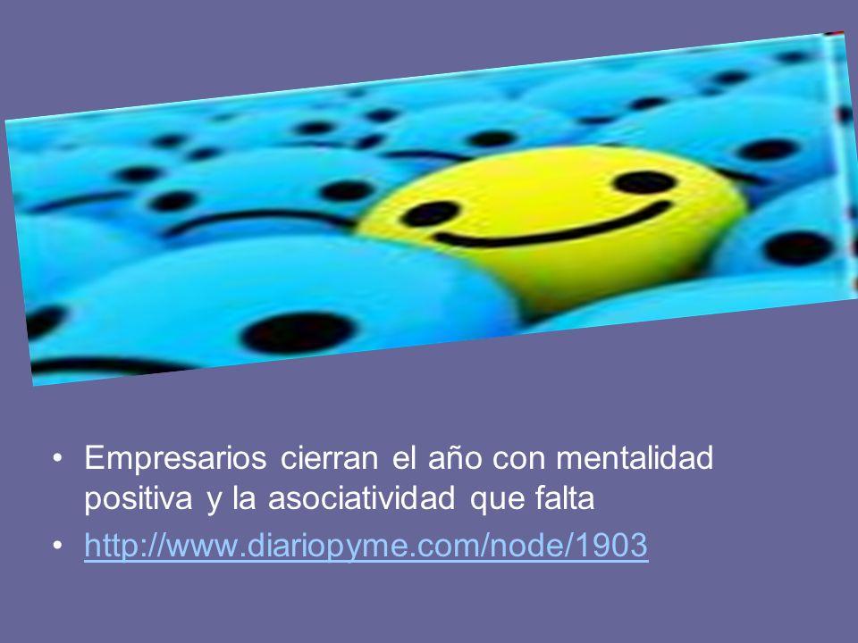 Empresarios cierran el año con mentalidad positiva y la asociatividad que falta http://www.diariopyme.com/node/1903