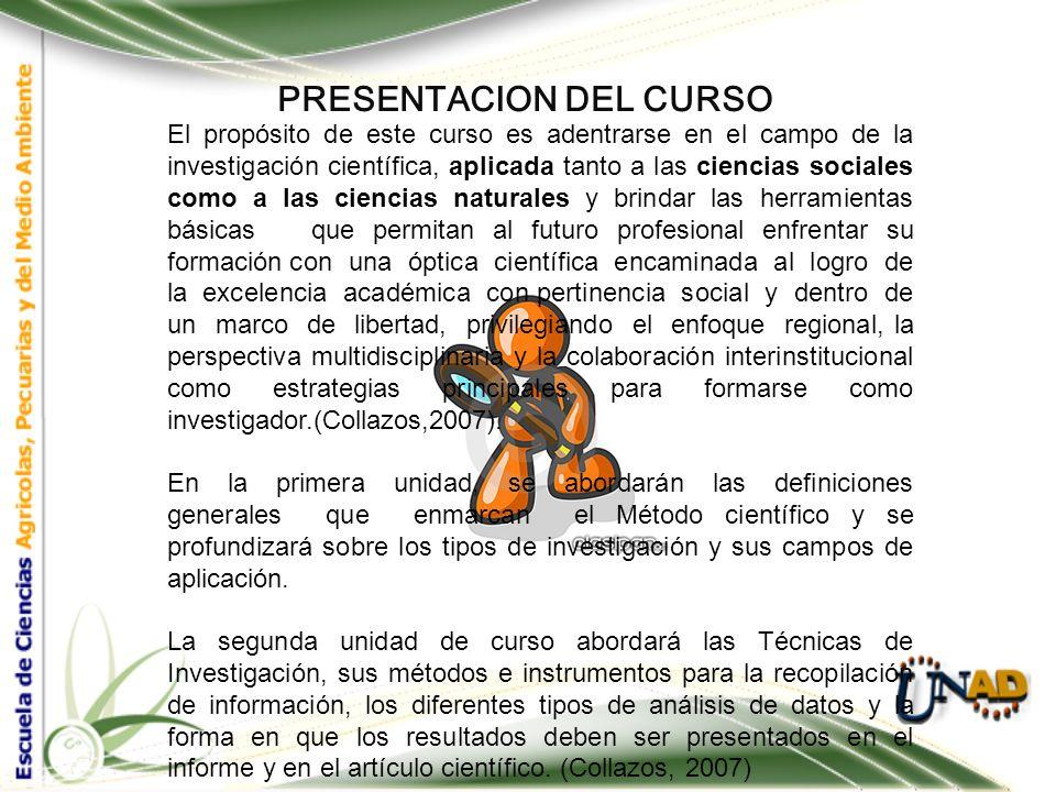 PRESENTACION DEL CURSO: Intencionalidades Formativas Unidad II.