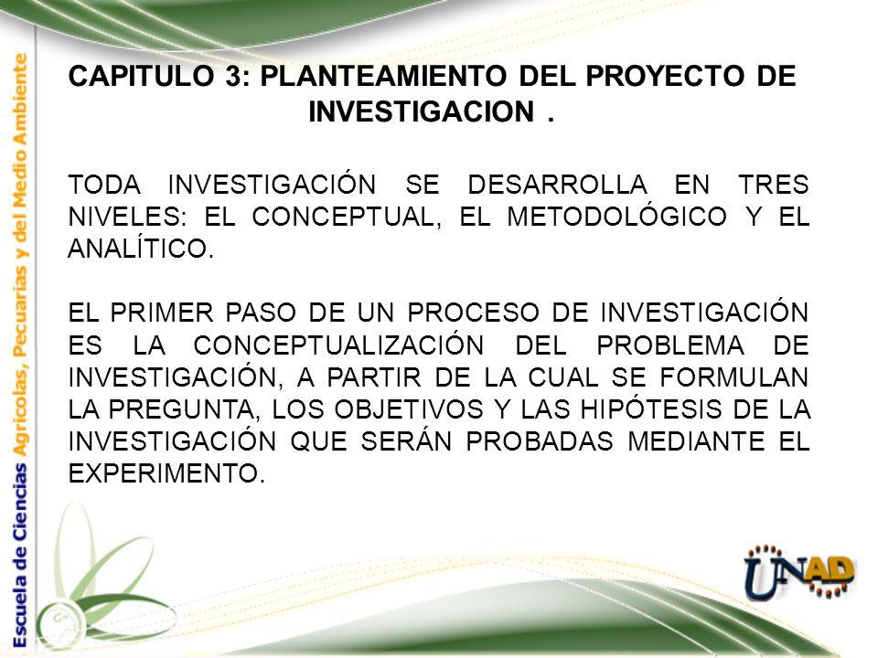 CAPITULO 3: PLANTEAMIENTO DEL PROYECTO DE INVESTIGACION. EN ÉSTE CAPÍTULO NOS CENTRAREMOS EN EL PLANTEAMIENTO INICIAL DEL PROYECTO DE INVESTIGACIÓN QU