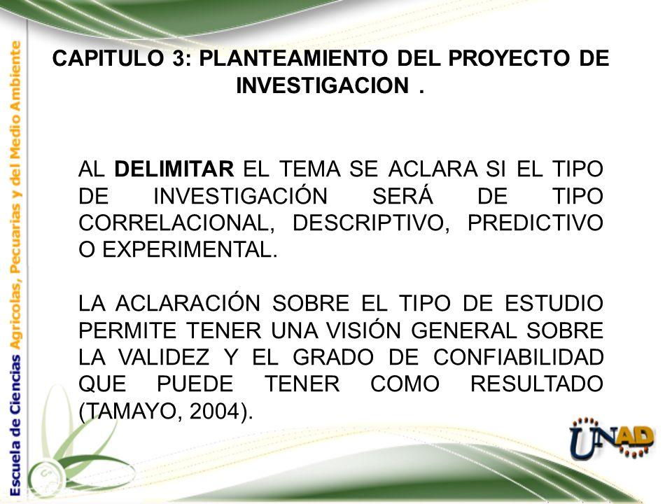 CAPITULO 3: PLANTEAMIENTO DEL PROYECTO DE INVESTIGACION. EL PROBLEMA DE INVESTIGACIÓN LOS PROBLEMAS DE INVESTIGACIÓN SURGEN ESENCIALMENTE DE: INTERROG