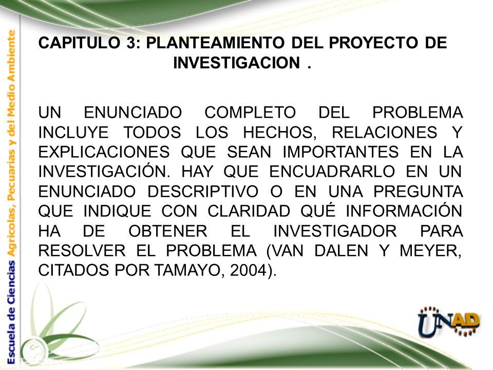 CAPITULO 3: PLANTEAMIENTO DEL PROYECTO DE INVESTIGACION. AL DELIMITAR EL TEMA SE ACLARA SI EL TIPO DE INVESTIGACIÓN SERÁ DE TIPO CORRELACIONAL, DESCRI