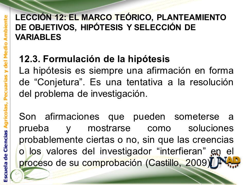 LECCIÓN 12: EL MARCO TEÓRICO, PLANTEAMIENTO DE OBJETIVOS, HIPÓTESIS Y SELECCIÓN DE VARIABLES LOS VERBOS COMÚNMENTE UTILIZADOS (SIEMPRE EN INFINITIVO),