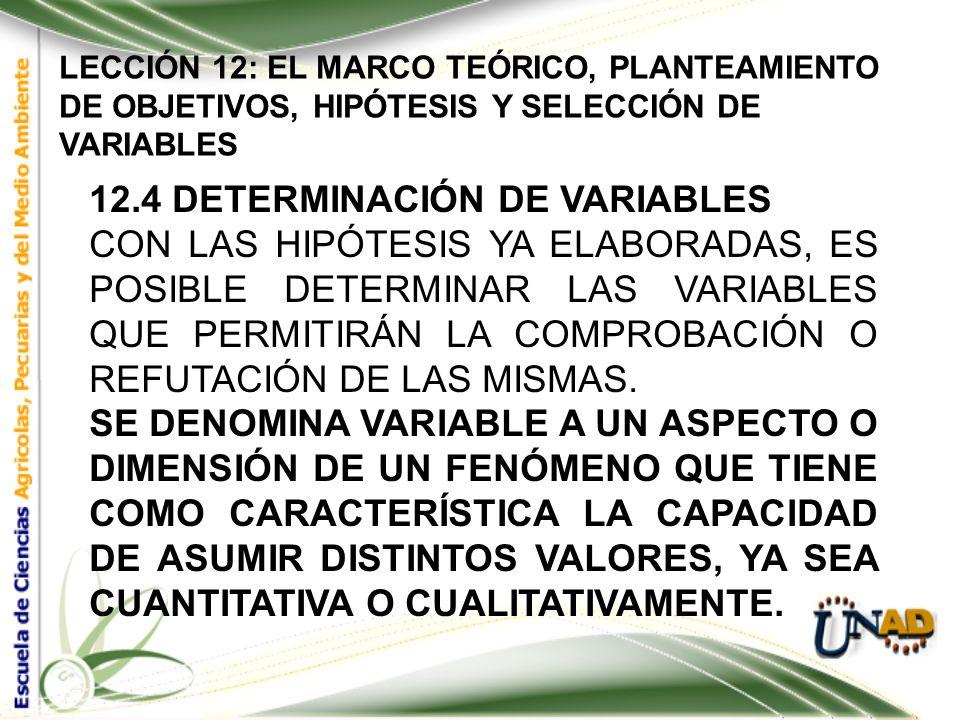 LECCIÓN 12: EL MARCO TEÓRICO, PLANTEAMIENTO DE OBJETIVOS, HIPÓTESIS Y SELECCIÓN DE VARIABLES 12.3. Formulación de la hipótesis La hipótesis es siempre
