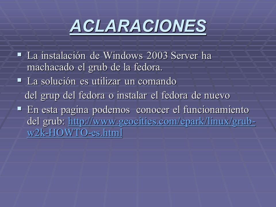 Drivers del Hardware A continuación instalamos los drivers del hardware (todo lo que necesita el Windows Server 2003, se supone que ya sabemos instalar los componente que necesitamos y demas).