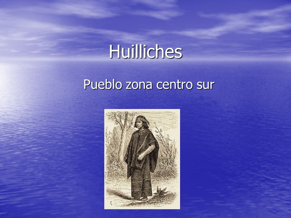 Huilliches Pueblo zona centro sur