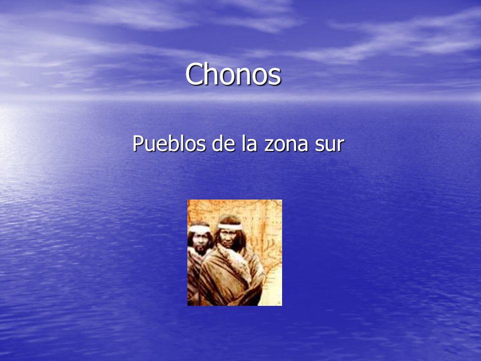 Chonos Pueblos de la zona sur