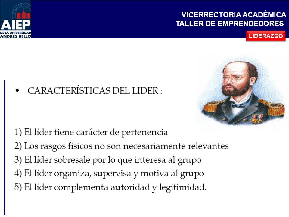 VICERRECTORIA ACADÉMICA TALLER DE EMPRENDEDORES Es la cualidad extraordinaria de los grandes líderes como jefes de estado, caudillos, reyes, etc.
