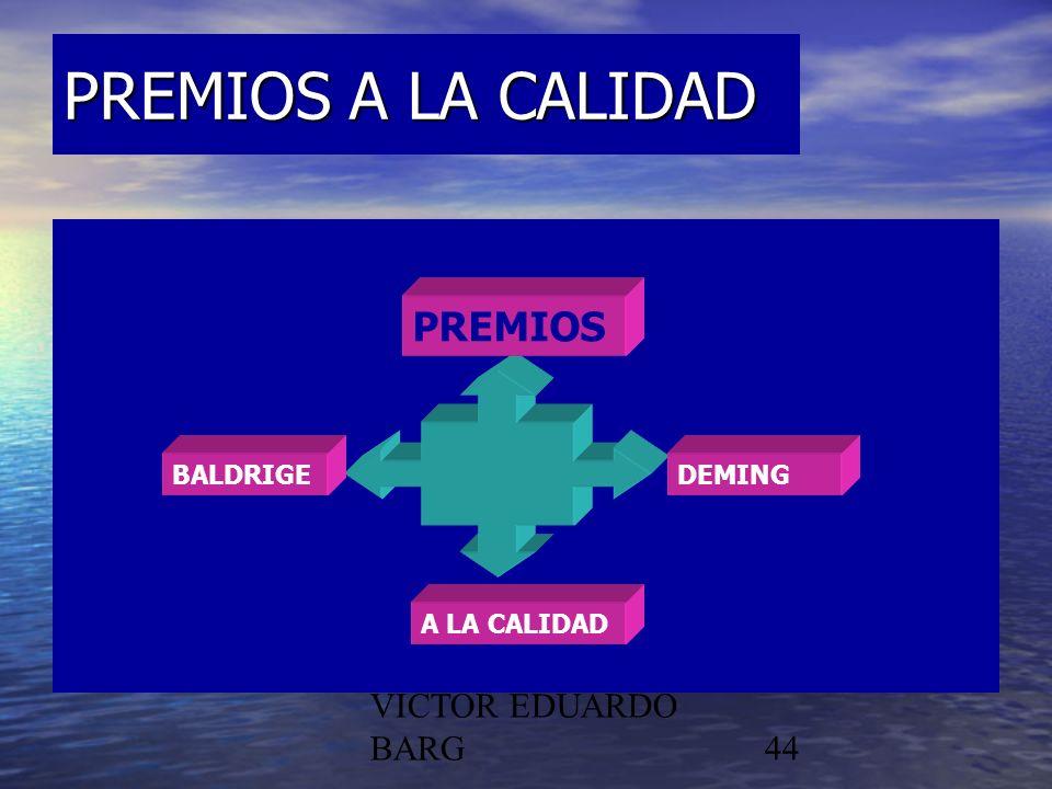 POR DR. C.P./LIC. VICTOR EDUARDO BARG44 PREMIOS A LA CALIDAD PREMIOS DEMINGBALDRIGE A LA CALIDAD