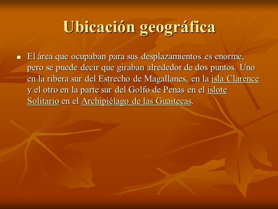 Ubicación geográfica El área que ocupaban para sus desplazamientos es enorme, pero se puede decir que giraban alrededor de dos puntos.