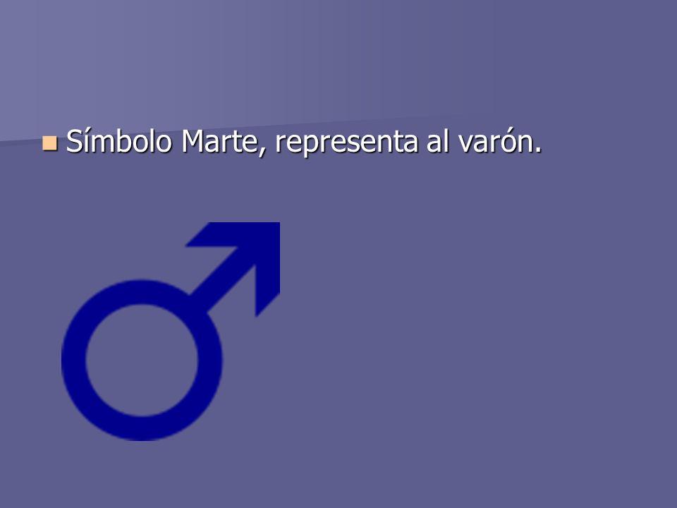 Símbolo Marte, representa al varón. Símbolo Marte, representa al varón.