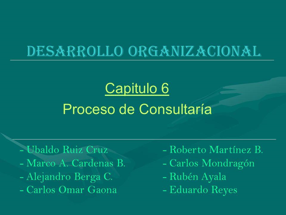 Desarrollo organizacional - Ubaldo Ruiz Cruz- Roberto Martínez B. - Marco A. Cardenas B.- Carlos Mondragón - Alejandro Berga C.- Rubén Ayala - Carlos