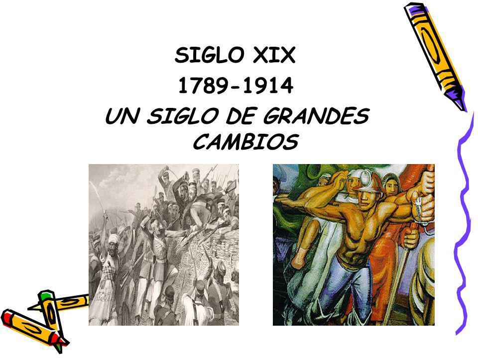 SIGLO XIX 1789-1914 UN SIGLO DE GRANDES CAMBIOS