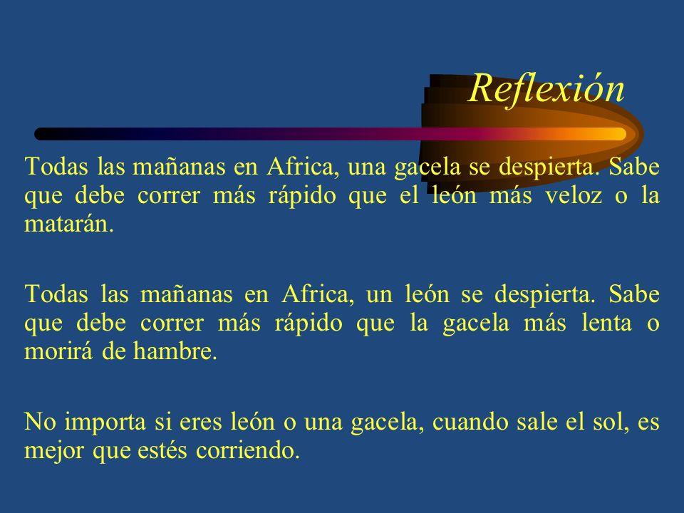 Reflexión Todas las mañanas en Africa, una gacela se despierta.