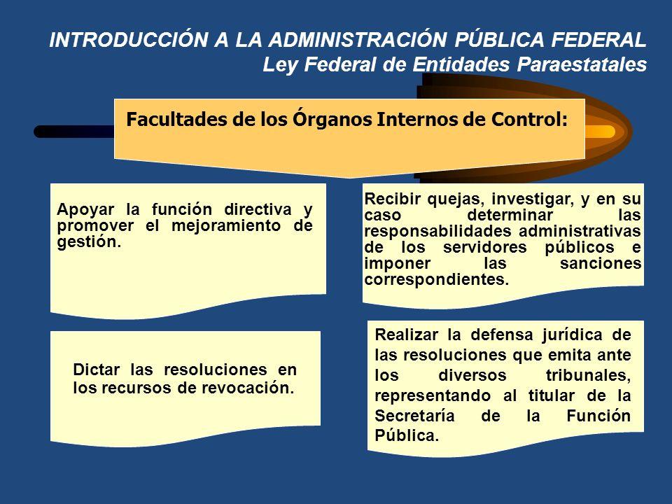 INTRODUCCIÓN A LA ADMINISTRACIÓN PÚBLICA FEDERAL Ley Federal de Entidades Paraestatales Facultades de los Comisarios Públicos Propietarios y los Suple