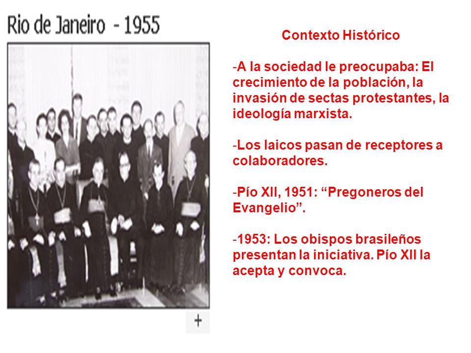 Contexto Histórico -A la sociedad le preocupaba: El crecimiento de la población, la invasión de sectas protestantes, la ideología marxista. -Los laico