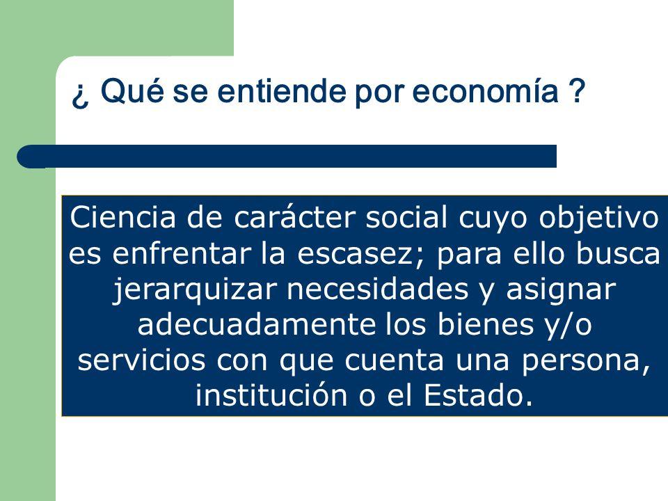 La economía se clasifica en: MACROECONOMÍA MICROECONOMÍA Comportamiento global y sistémico del proceso económico.