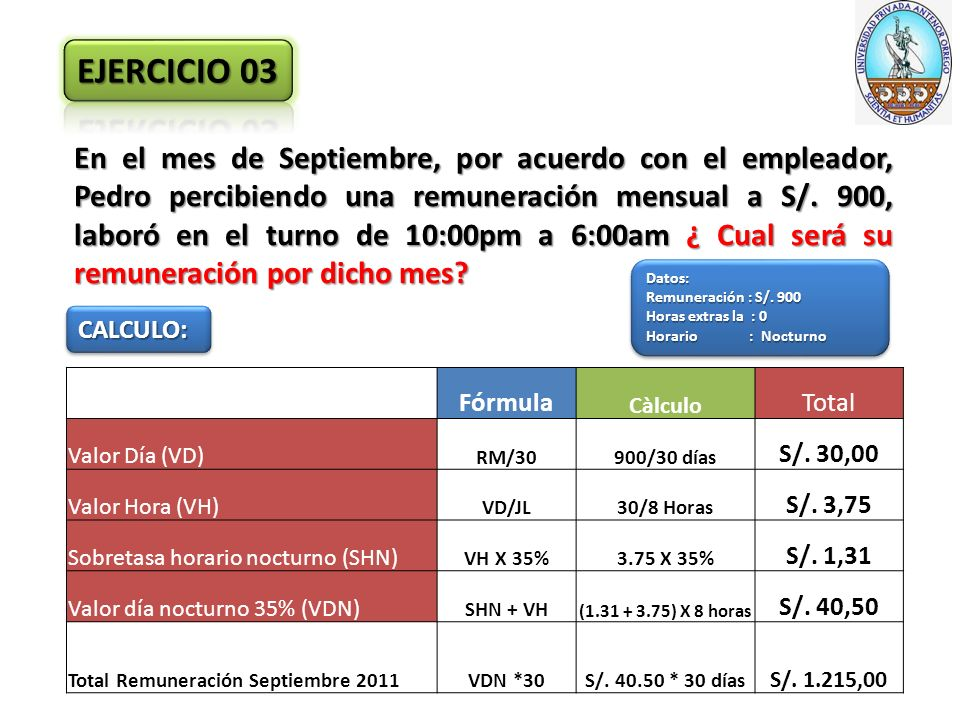En el mes de Septiembre, por acuerdo con el empleador, Pedro percibiendo una remuneración mensual a S/.