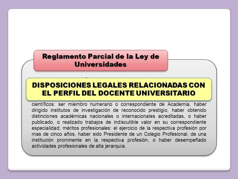 Artículo 85: Para ser miembro del personal Docente y de Investigación se requiere: a.Poseer condiciones morales y cívicas que lo hagan apto para tal f