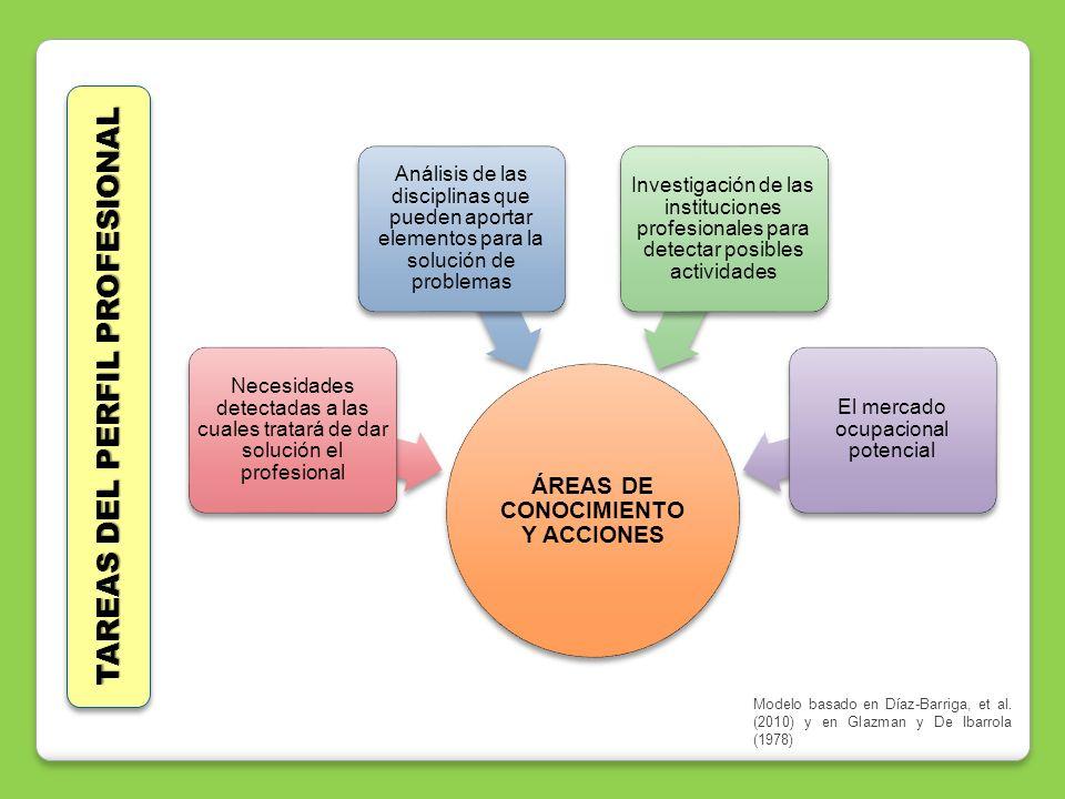 ÁREAS DE CONOCIMIENTO Y ACCIONES Necesidades detectadas a las cuales tratará de dar solución el profesional Análisis de las disciplinas que pueden apo