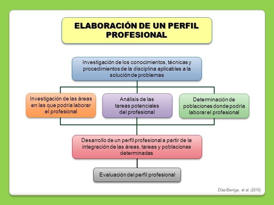 ELABORACIÓN DE UN PERFIL PROFESIONAL Desarrollo de un perfil profesional a partir de la integración de las áreas, tareas y poblaciones determinadas Ev