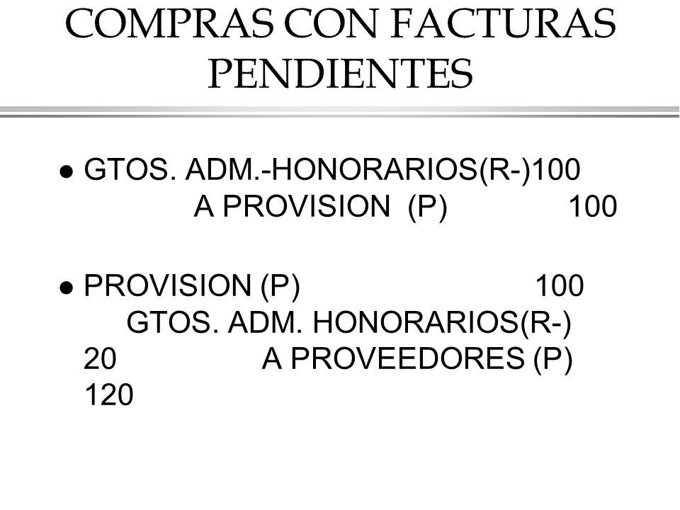 COMPRAS CON FACTURAS PENDIENTES l GTOS.