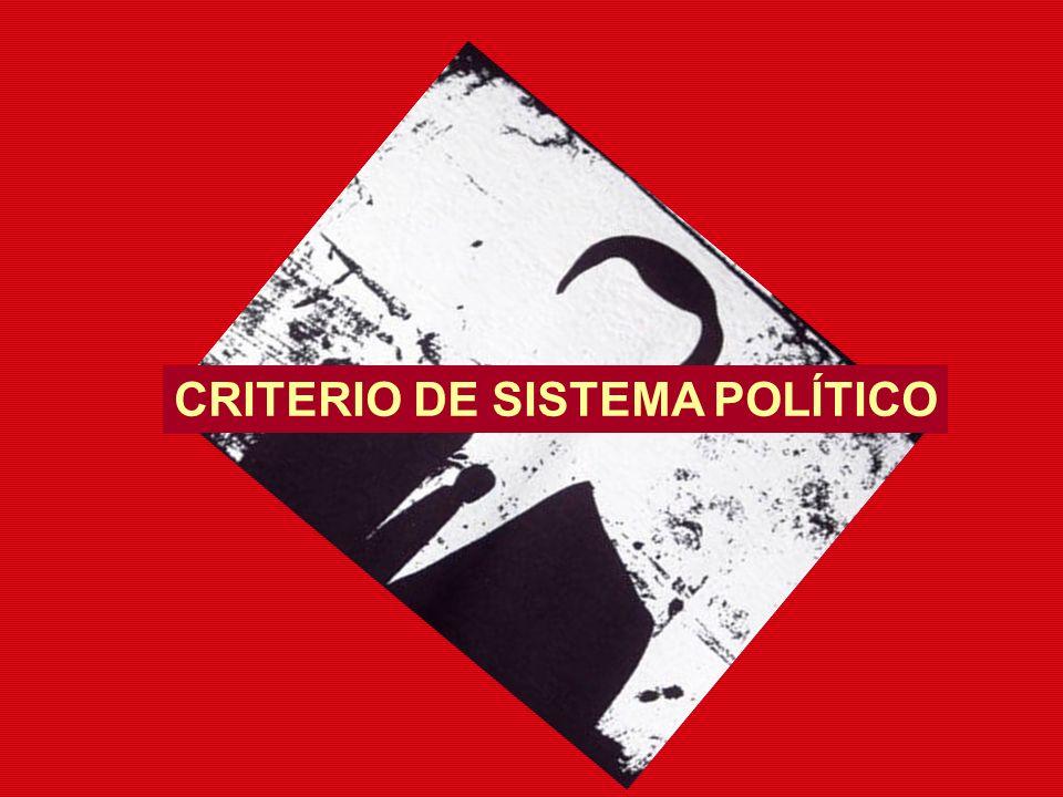 CRITERIO DE SISTEMA POLÍTICO