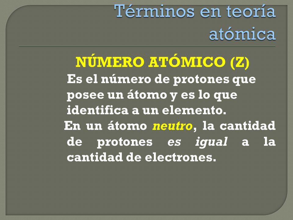 Se entiende por núclido o nucleido a todo átomo de un elemento que tiene una composición nuclear definida, es decir con un número de protones y neutro