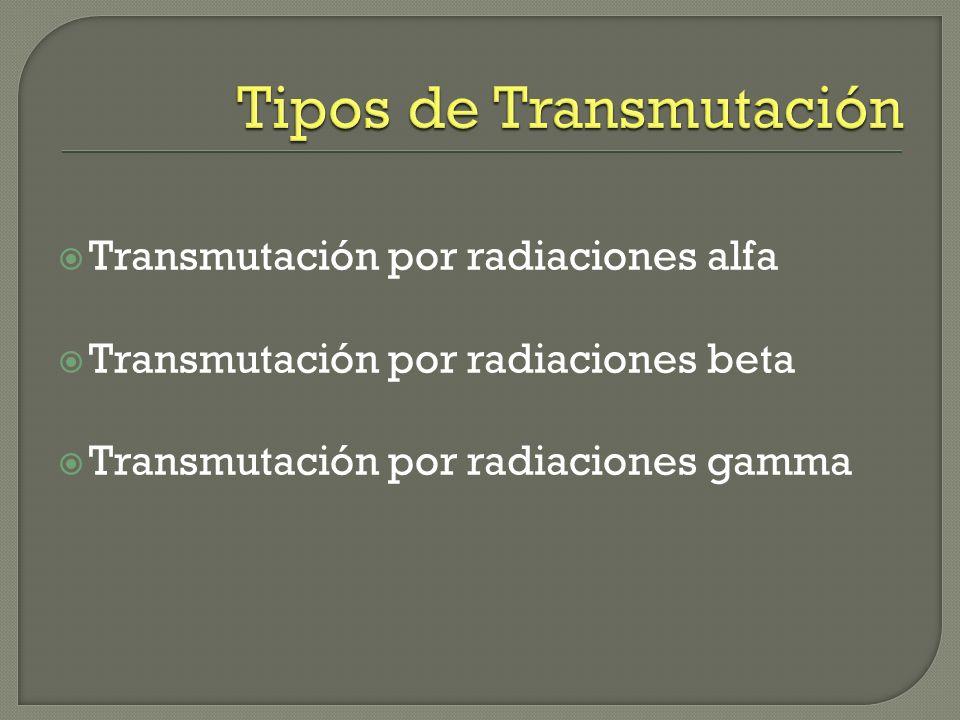 Ocurre como consecuencia del proceso de fisión. La transmutación ocurre de elementos de peso atómico inferior hasta que su núcleo se vuelve estable. O