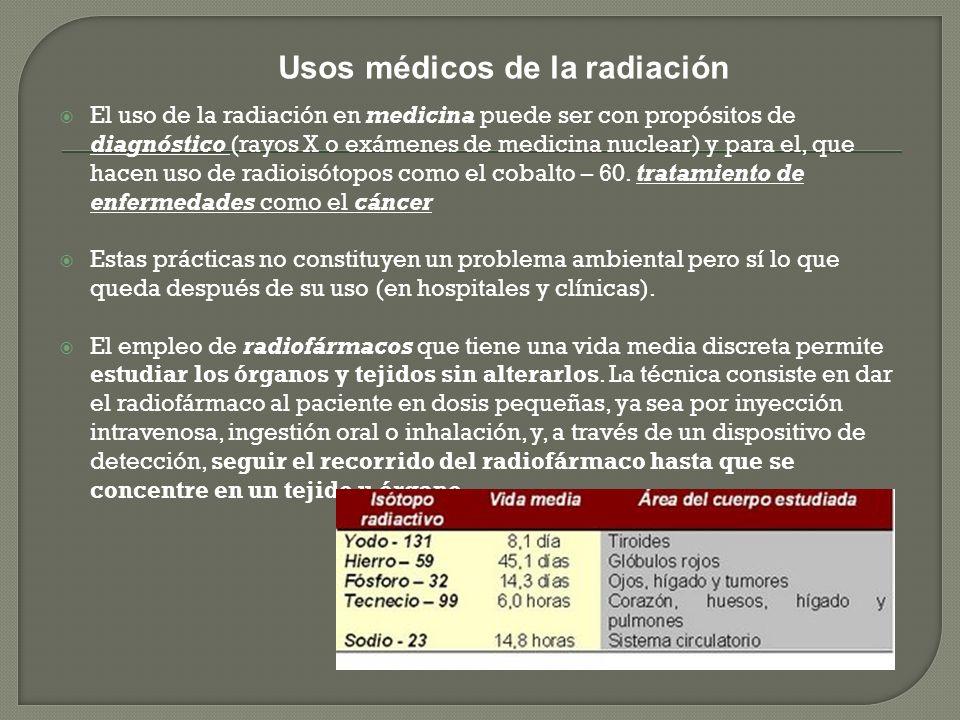 Medicina nuclear, especialidad médica que utiliza sustancias radiactivas o radiofármacos, combinadas con técnicas de imagen que permiten diagnosticar