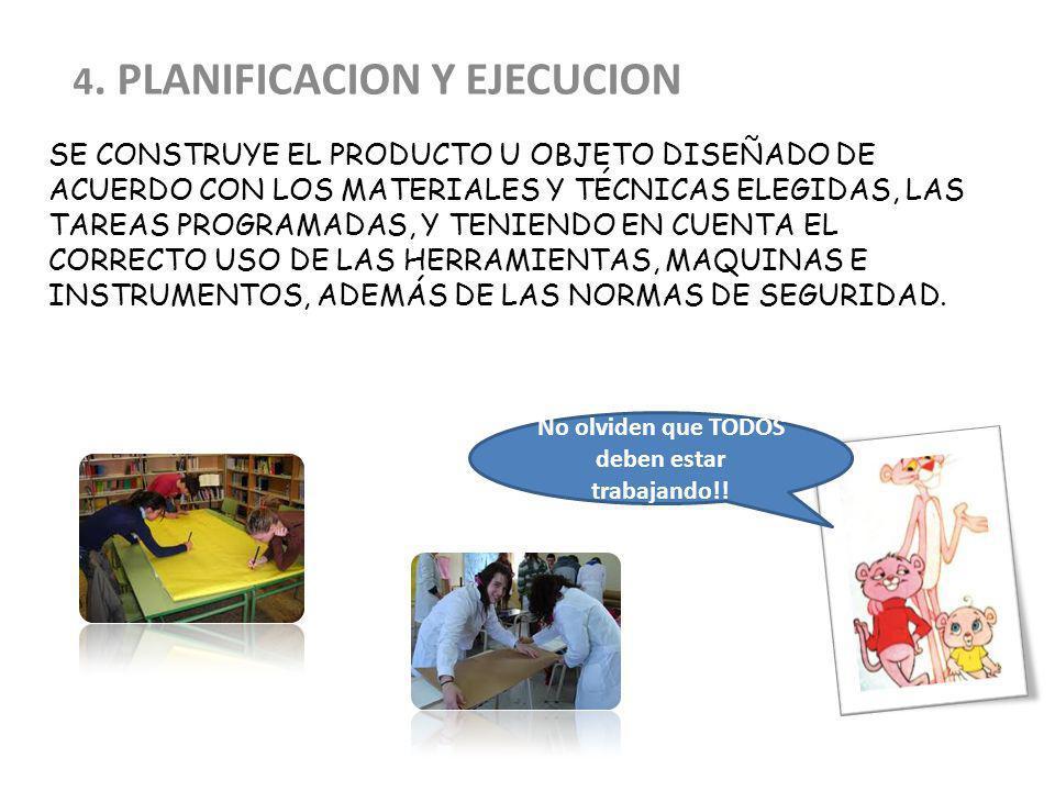 SE CONSTRUYE EL PRODUCTO U OBJETO DISEÑADO DE ACUERDO CON LOS MATERIALES Y TÉCNICAS ELEGIDAS, LAS TAREAS PROGRAMADAS, Y TENIENDO EN CUENTA EL CORRECTO