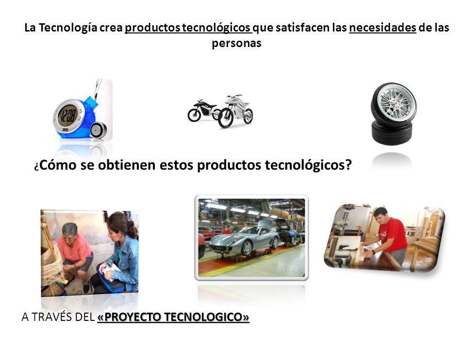 La Tecnología crea productos tecnológicos que satisfacen las necesidades de las personas ¿ Cómo se obtienen estos productos tecnológicos? «PROYECTO TE