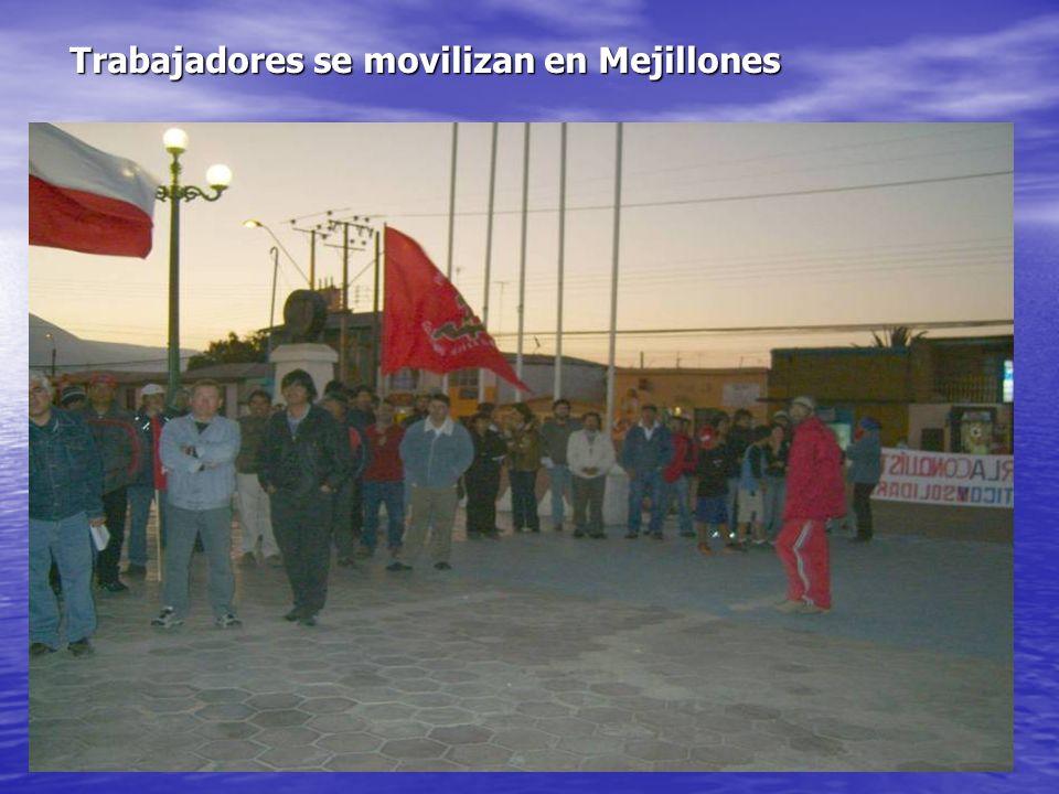 Trabajadores se movilizan en Mejillones