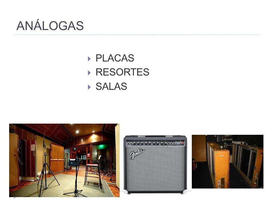 ANÁLOGAS PLACAS RESORTES SALAS
