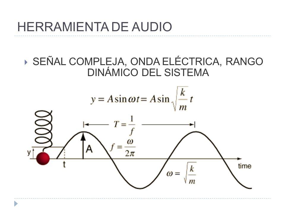 HERRAMIENTA DE AUDIO SEÑAL COMPLEJA, ONDA ELÉCTRICA, RANGO DINÁMICO DEL SISTEMA