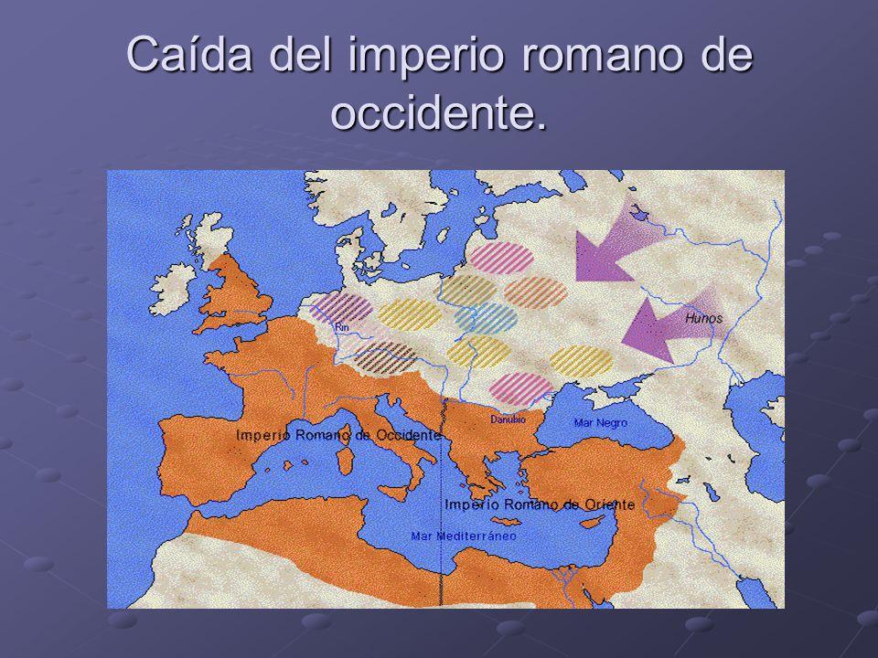 Ocupación de los reinos germanos en los territorios romanos, constantes enfrentamientos entre los ejércitos.
