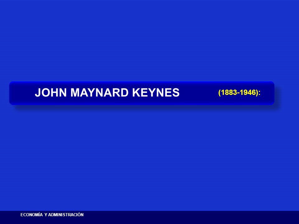 JOHN MAYNARD KEYNES (1883-1946): ECONOMÍA Y ADMINISTRACIÓN