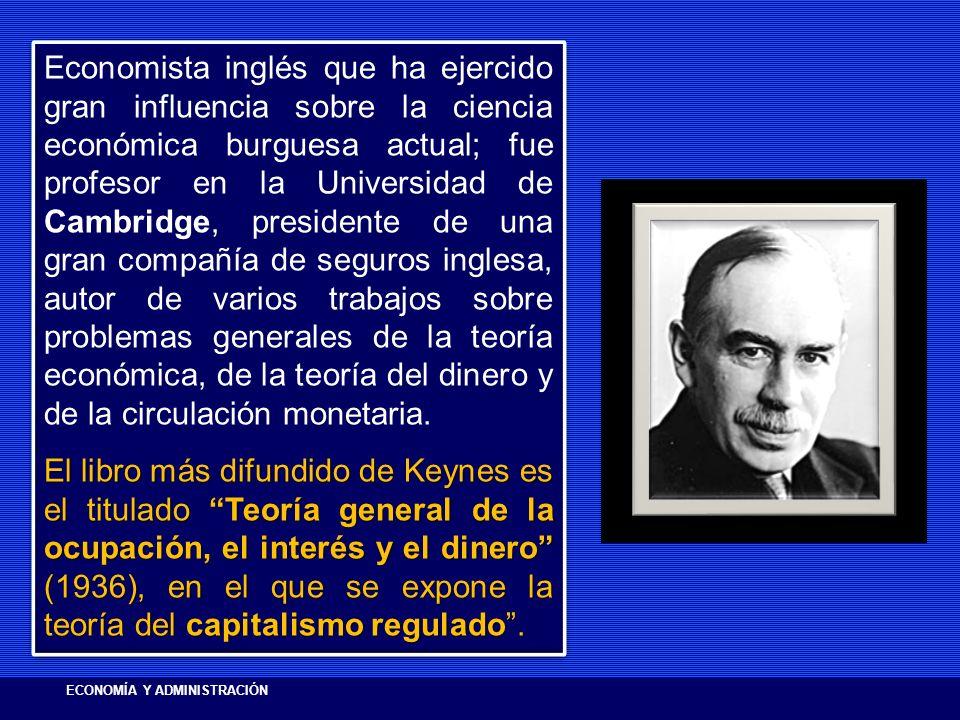 Economista inglés que ha ejercido gran influencia sobre la ciencia económica burguesa actual; fue profesor en la Universidad de Cambridge, presidente