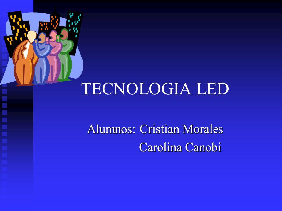 TECNOLOGIA LED Alumnos: Cristian Morales Carolina Canobi Carolina Canobi