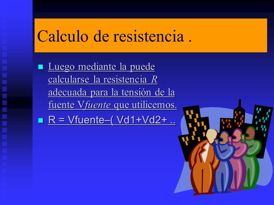 Calculo de resistencia.