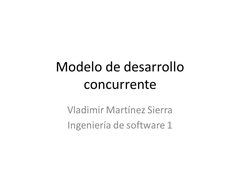 Modelo de desarrollo concurrente Vladimir Martínez Sierra Ingeniería de software 1
