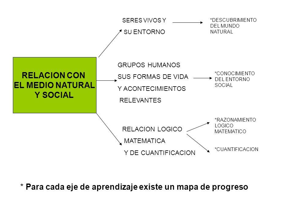 RELACION CON EL MEDIO NATURAL Y SOCIAL SERES VIVOS Y SU ENTORNO GRUPOS HUMANOS SUS FORMAS DE VIDA Y ACONTECIMIENTOS RELEVANTES RELACION LOGICO MATEMAT