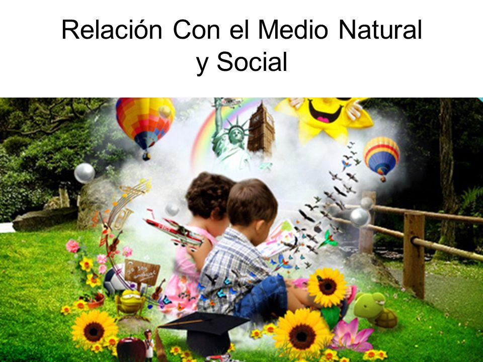 Relación Con el Medio Natural y Social