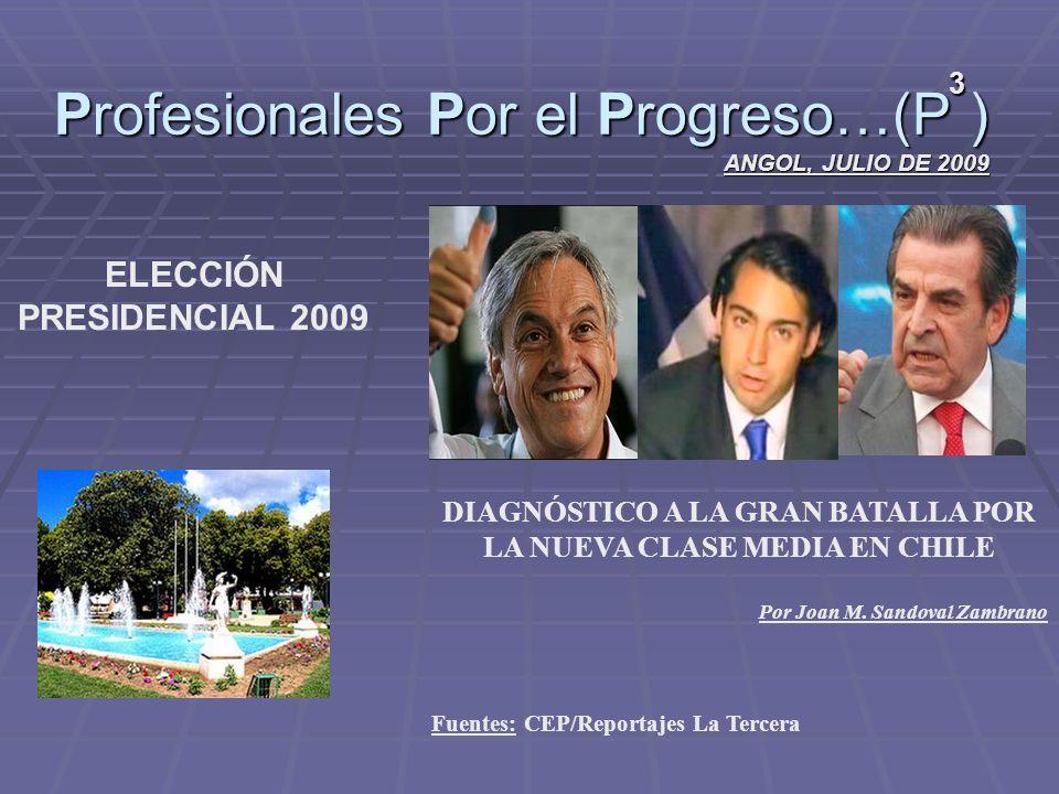 Profesionales Por el Progreso…(P ) ANGOL, JULIO DE 2009 3 DIAGNÓSTICO A LA GRAN BATALLA POR LA NUEVA CLASE MEDIA EN CHILE Por Joan M.