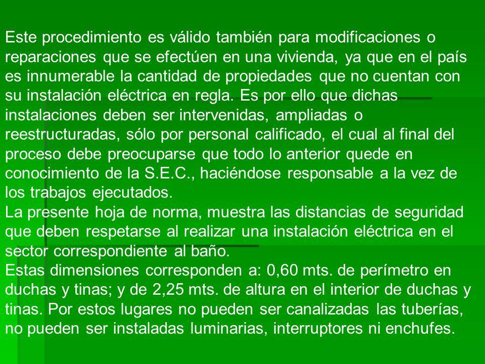 Este procedimiento es válido también para modificaciones o reparaciones que se efectúen en una vivienda, ya que en el país es innumerable la cantidad