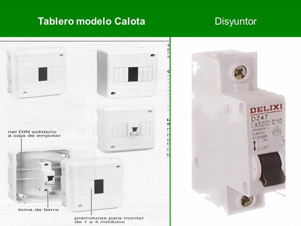Disyuntor Tablero modelo Calota