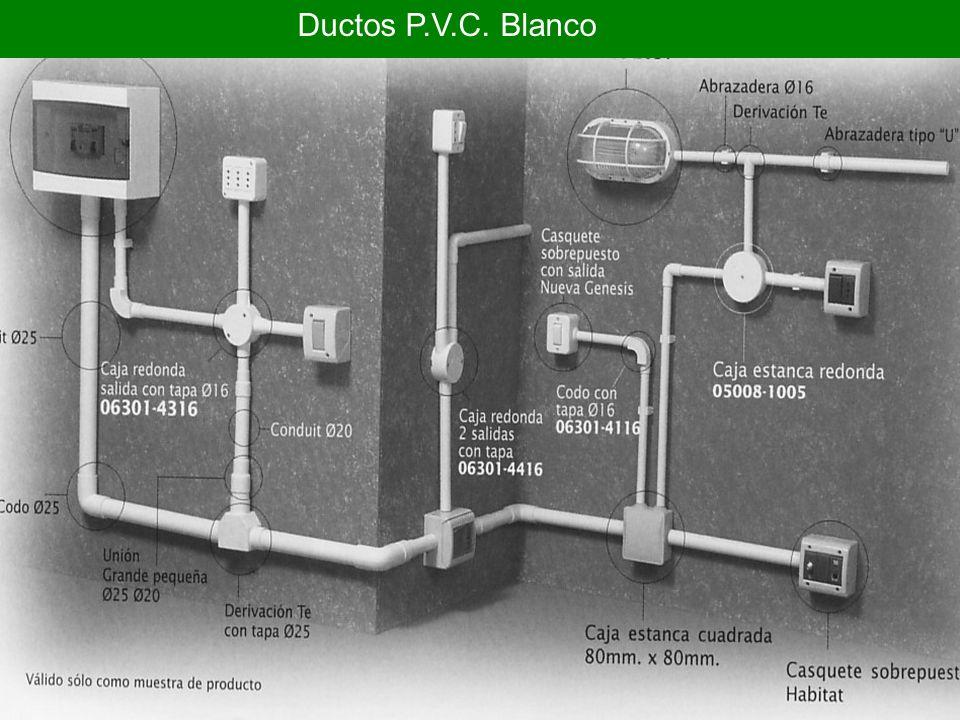 Ductos P.V.C. Blanco