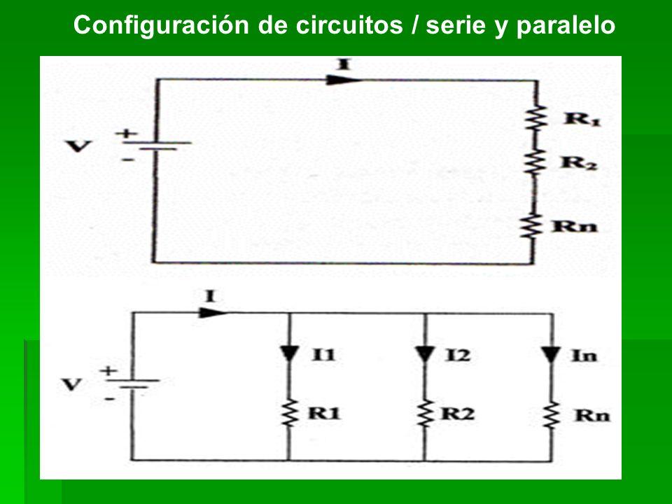 Configuración de circuitos / serie y paralelo