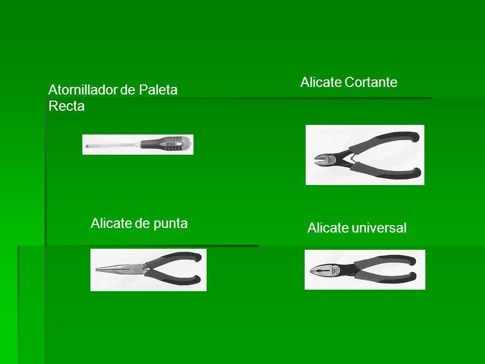 Atornillador de Paleta Recta Alicate Cortante Alicate de punta Alicate universal